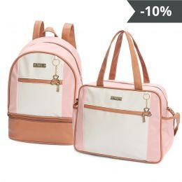 Kit de bolsas 2 peças linha Dublin cor rosa