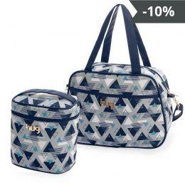 Kit de bolsas 2 peças linha Madri cor azul marinho