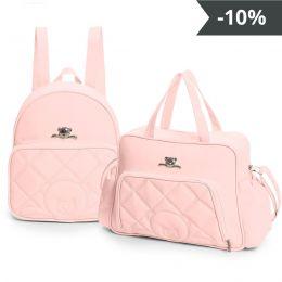 Kit de bolsas 2 peças linha Meu ursinho cor rosa