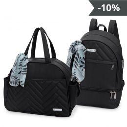 Kit de bolsas 2 peças linha Munique cor preta