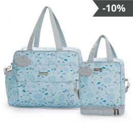 Kit de bolsas 2 peças linha Névoa cor azul