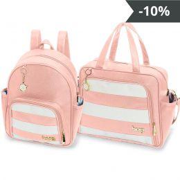 Kit de bolsas 2 peças linha Veneza cor rosa