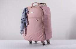 Mala maternidade de rodinha Hug para viagem linha Munique Rosa