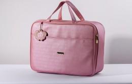 Mala maternidade Hug linha Cassis rosa
