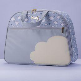 Mala maternidade Hug linha Nuvens Cinza