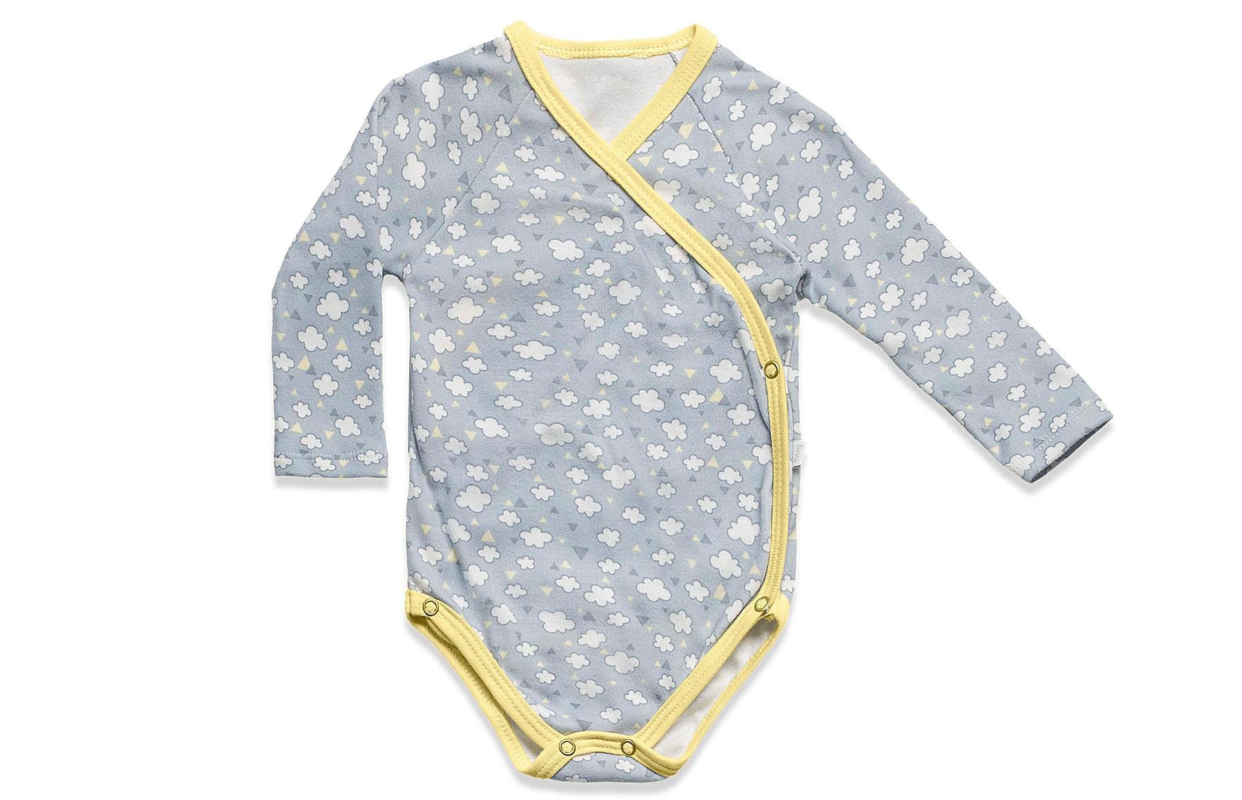 Body Kimono Manga Longa - Nuvens de Algodao