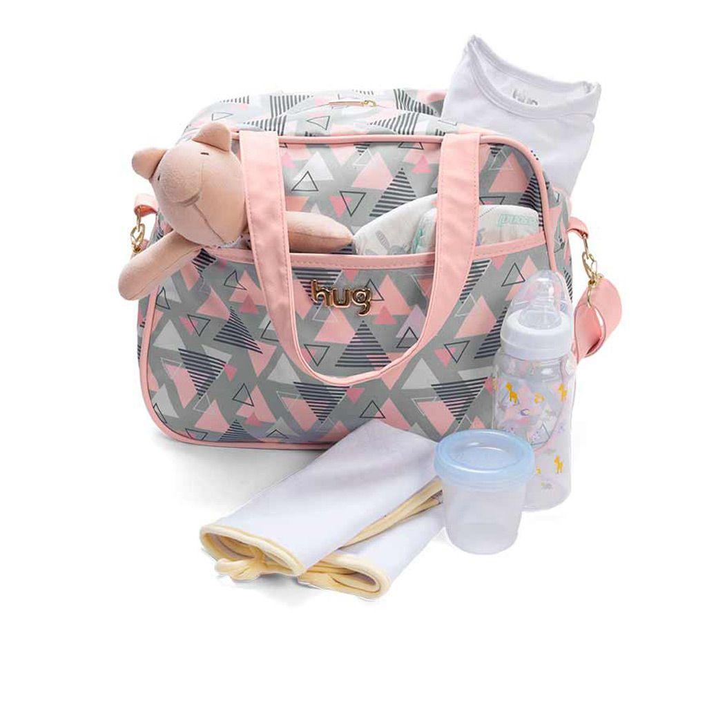 Bolsa maternidade grande Hug linha Madri Rosa