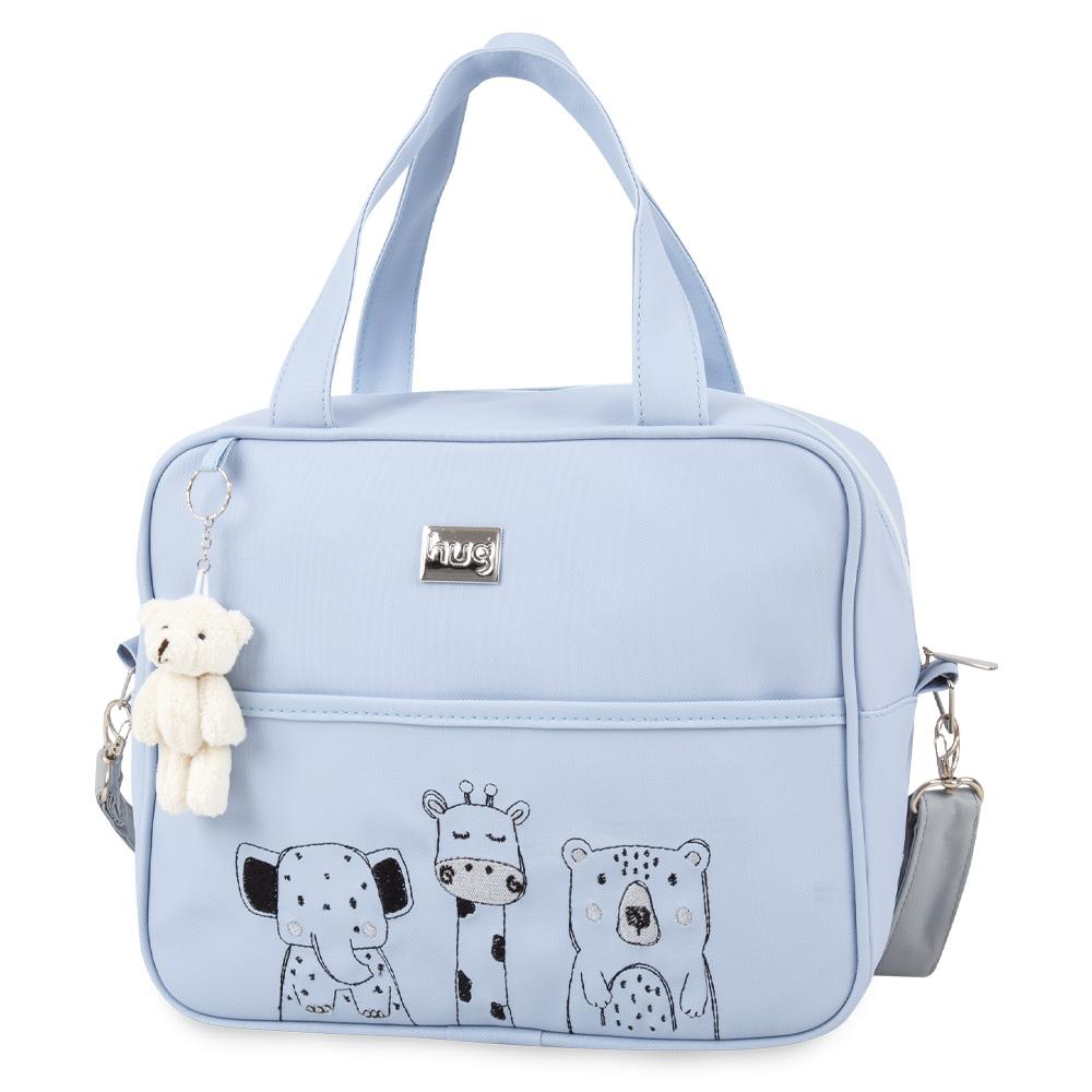 Bolsa Maternidade Festa Na Floresta Média Azul Bebê - Hug