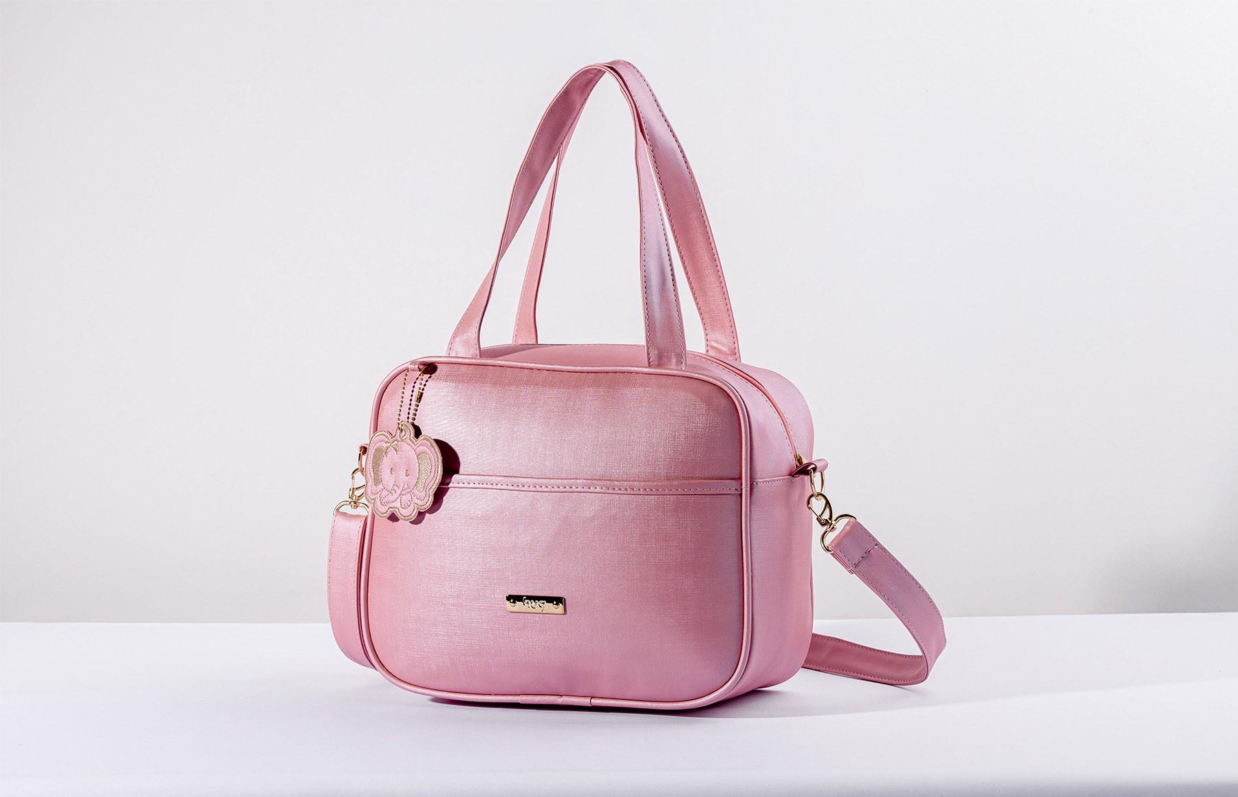 Bolsa maternidade grande Hug linha Cassis rosa