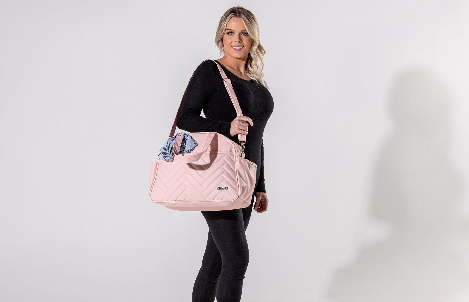 Bolsa maternidade grande Hug linha Munique rosa