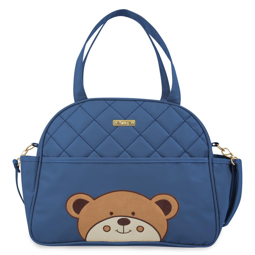 Bolsa Maternidade Urso Grande Azul Marinho - Hug