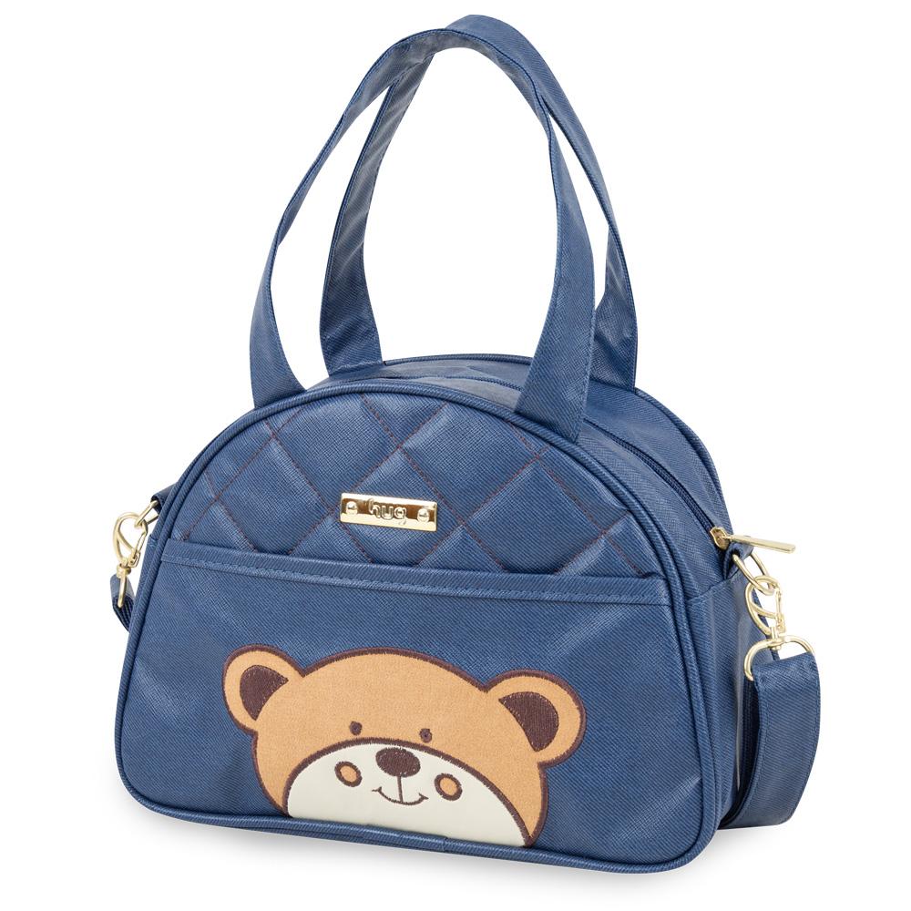 Bolsa Maternidade Urso Média Azul Marinho - Hug