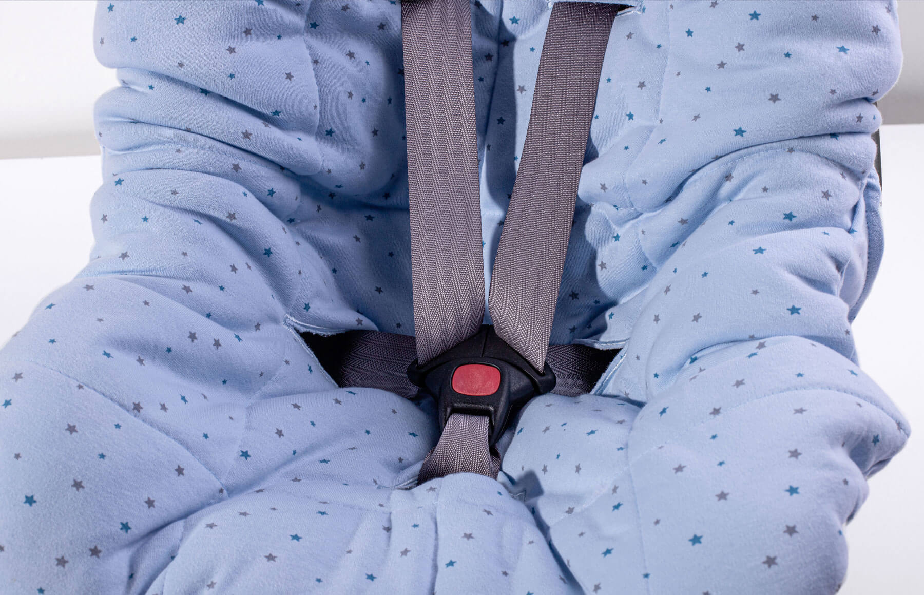 Capa De Bebê Conforto Brilha Brilha Estrelinha Azul
