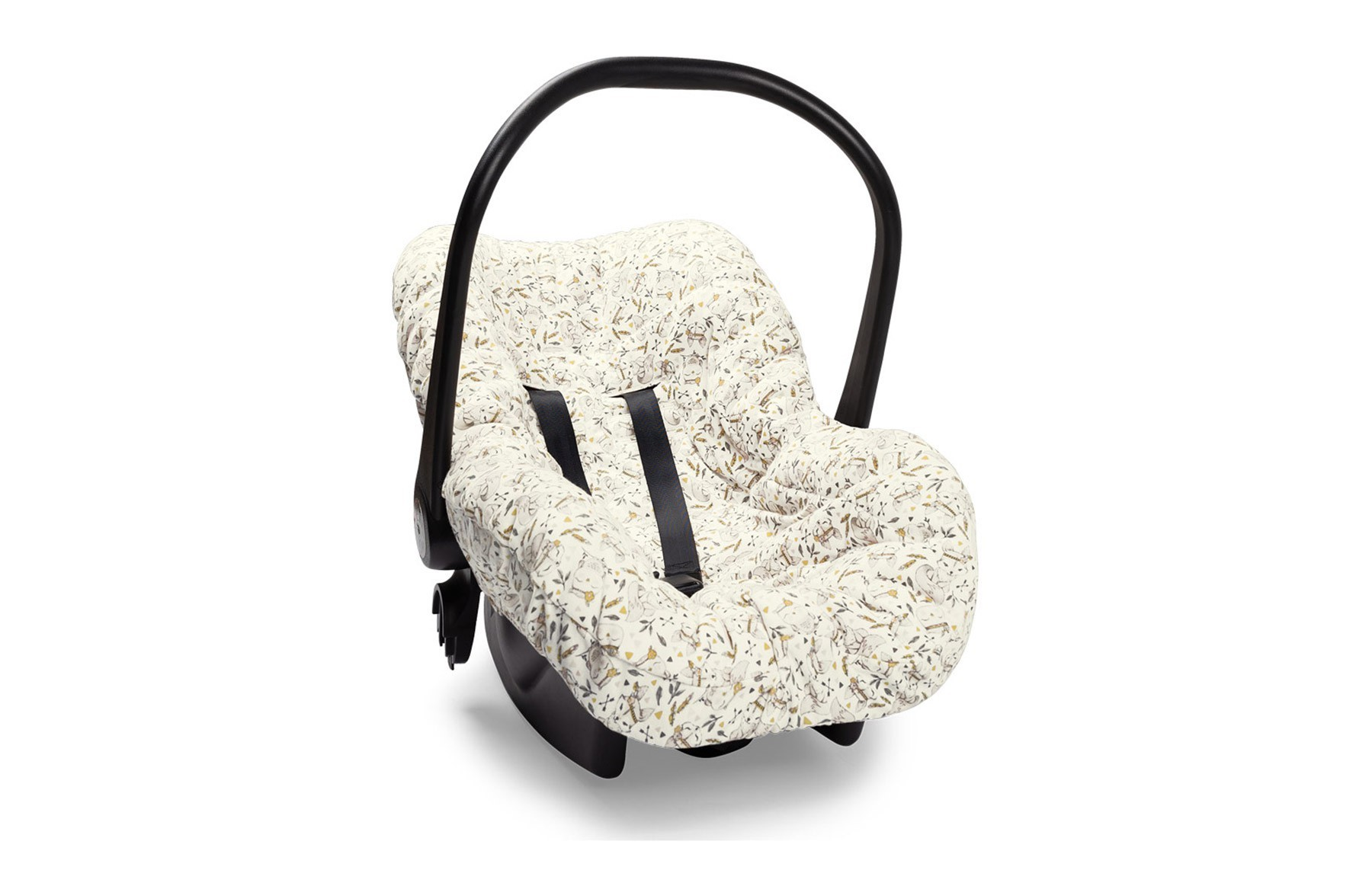 Capa De Bebê Conforto Floresta Encantada Rosa