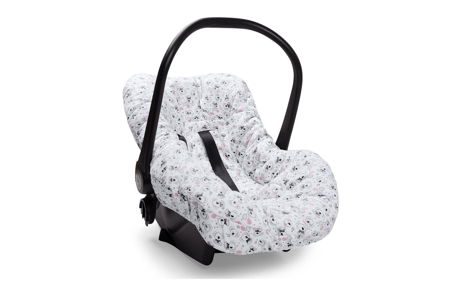Capa De Bebê Conforto Hora Da Festa Rosa