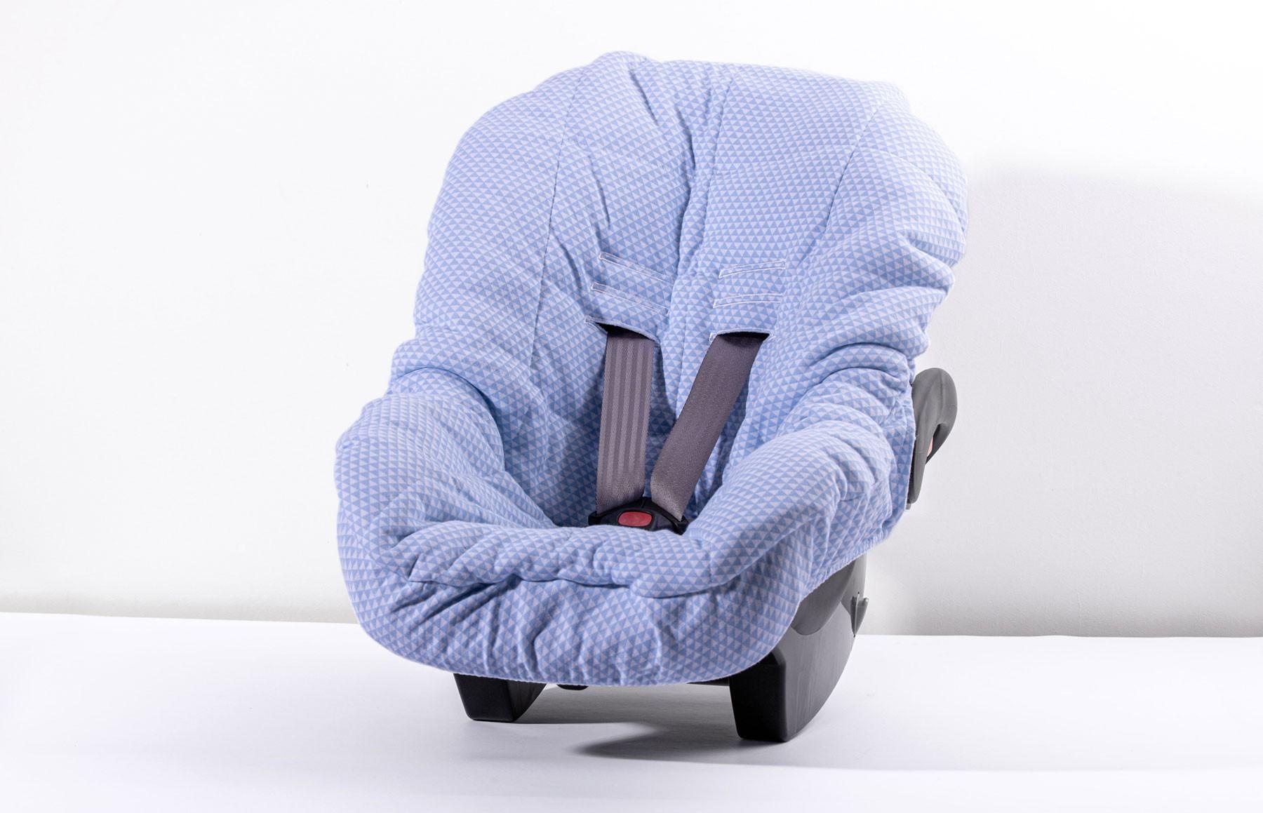 Capa De Bebê Conforto Lembranças De Infância Azul