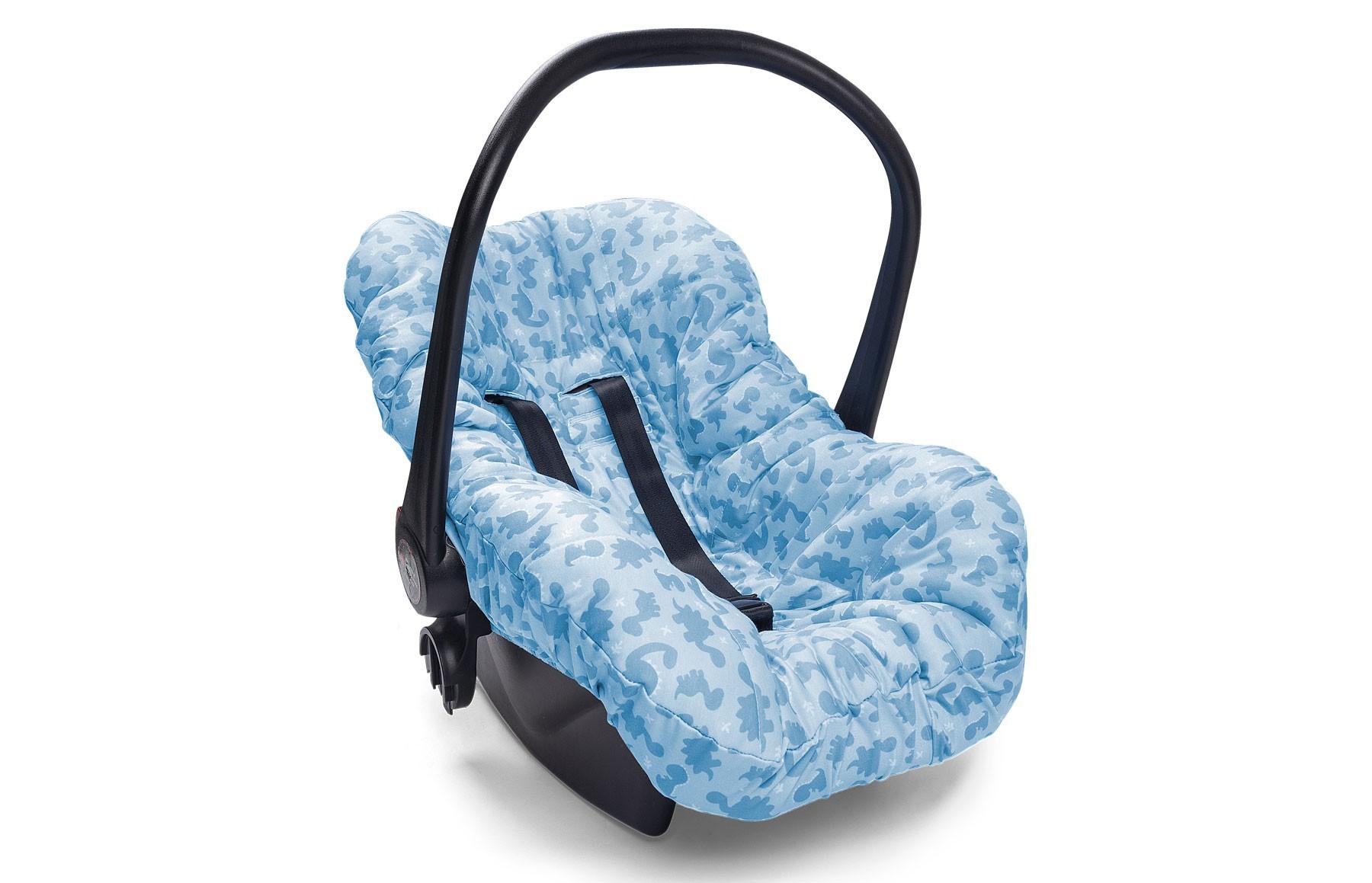 Capa de Bebê Conforto Meus Dinos Azul