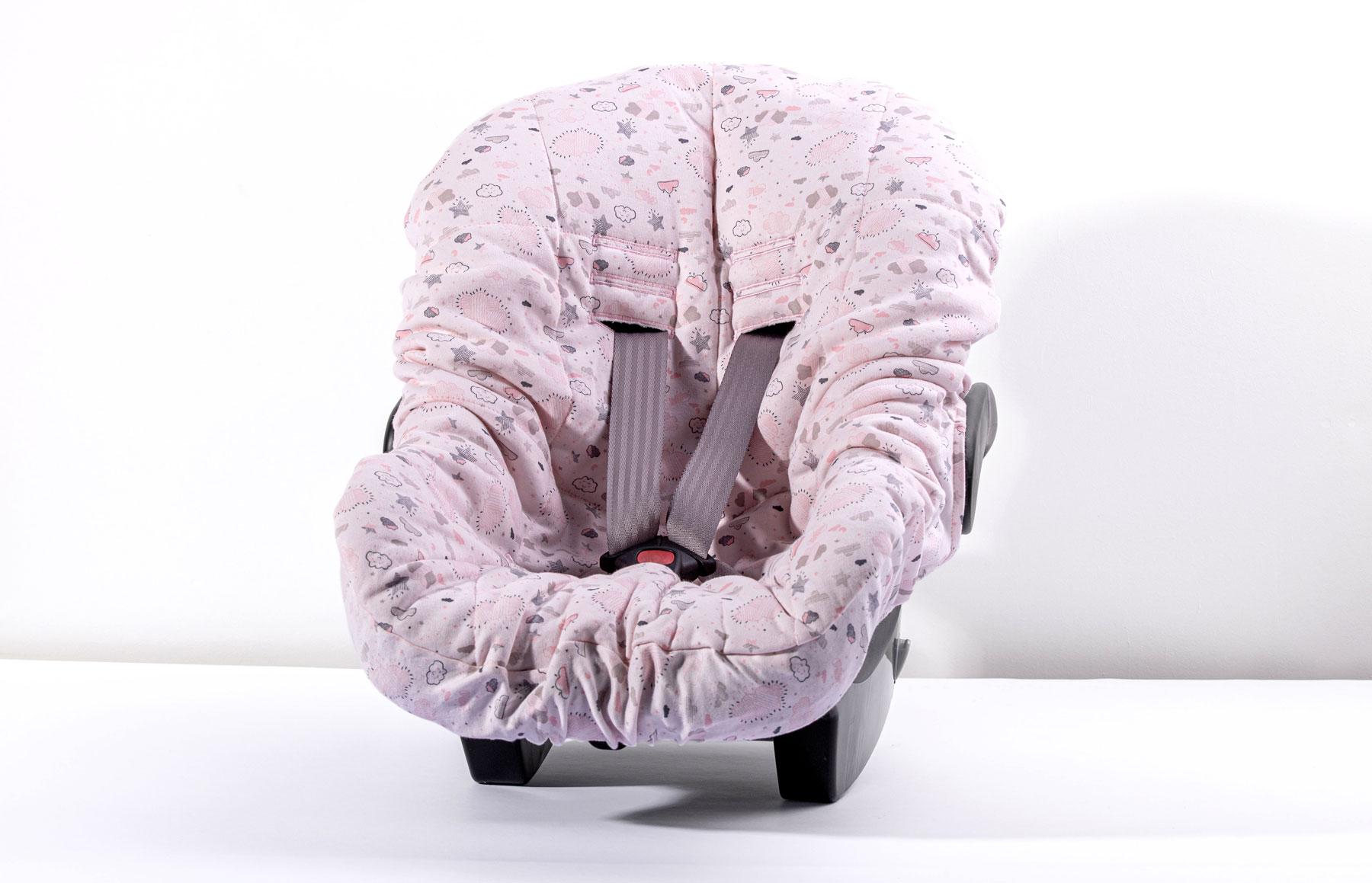 Capa De Bebê Conforto Névoa Rosa