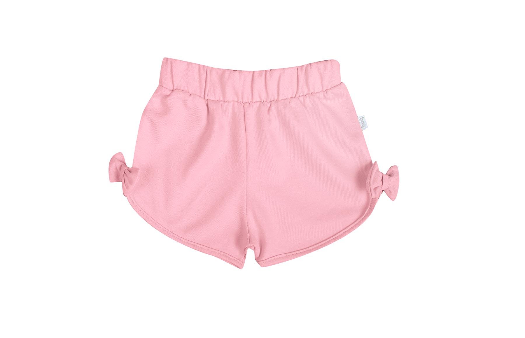 Conjunto Blusa Manga Curta + Shorts - Rosa