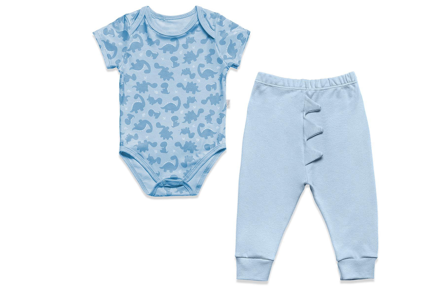 Conjunto Body Curto + Calça Dino Azul