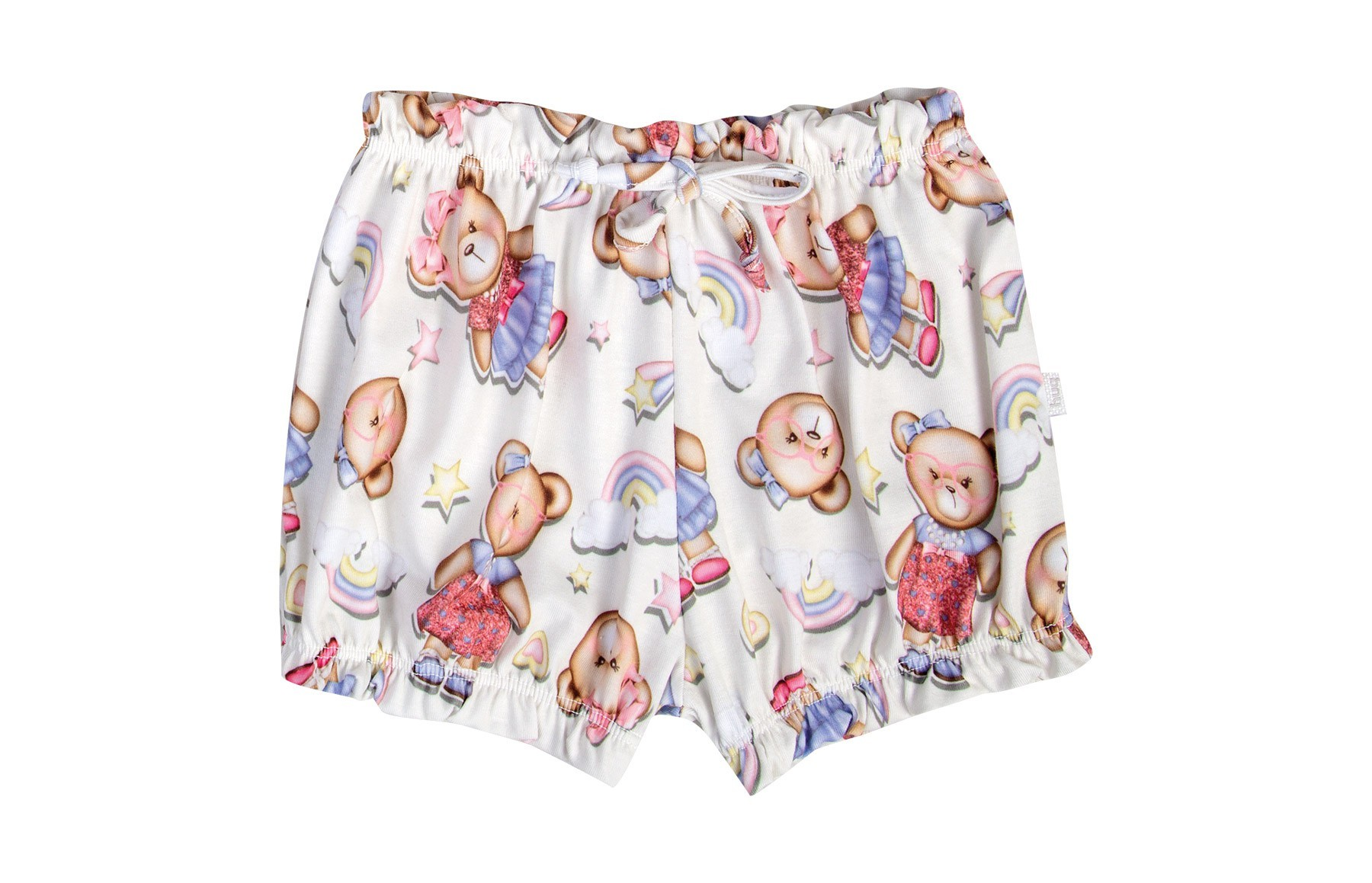 Conjunto Body Manga Curta + Shorts - Rosa