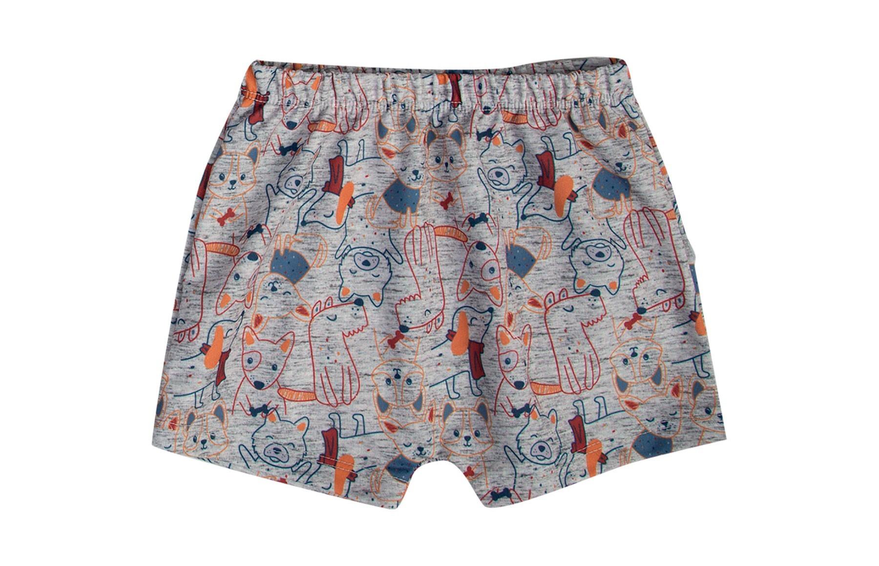 Conjunto Body Manga Curto + Shorts - Azul Marinho