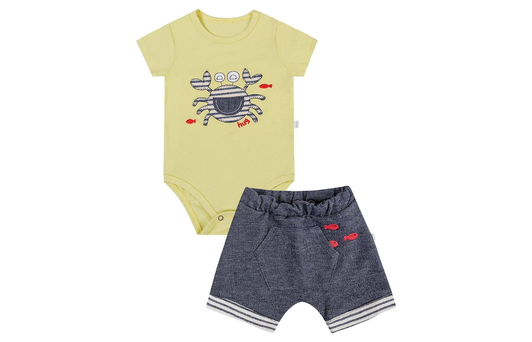 Conjunto Body mg Curta + Shorts - Amarelo