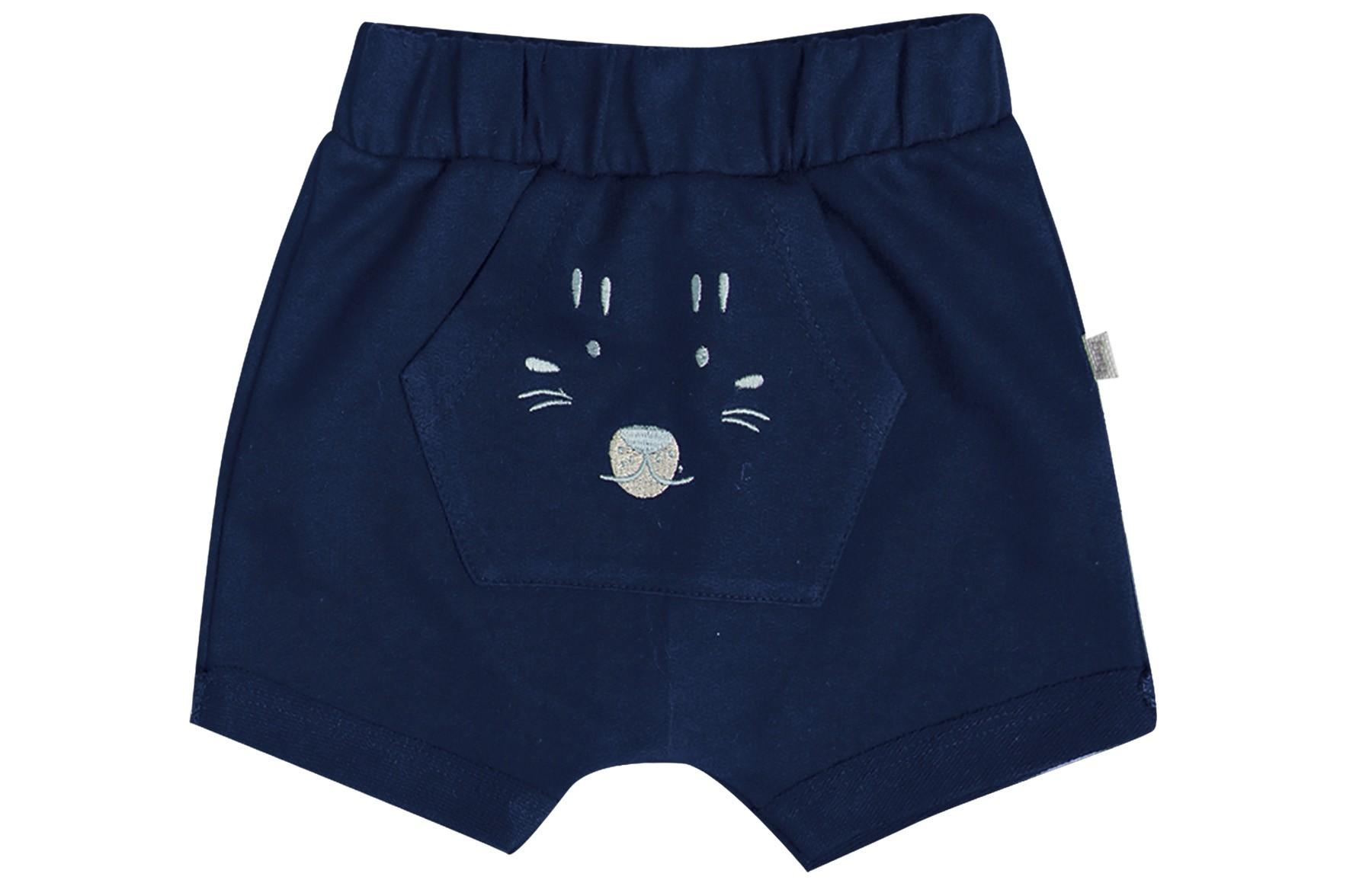 Conjunto Body mg Curta + Shorts - Azul