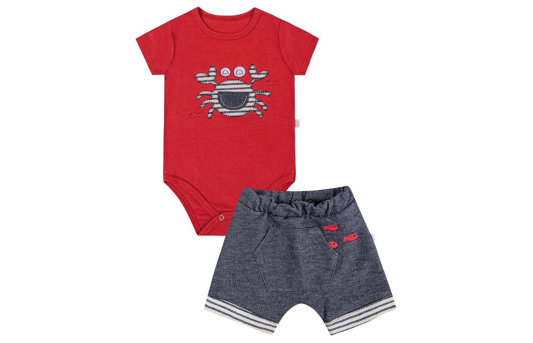 Conjunto Body mg Curta + Shorts - Vermelho