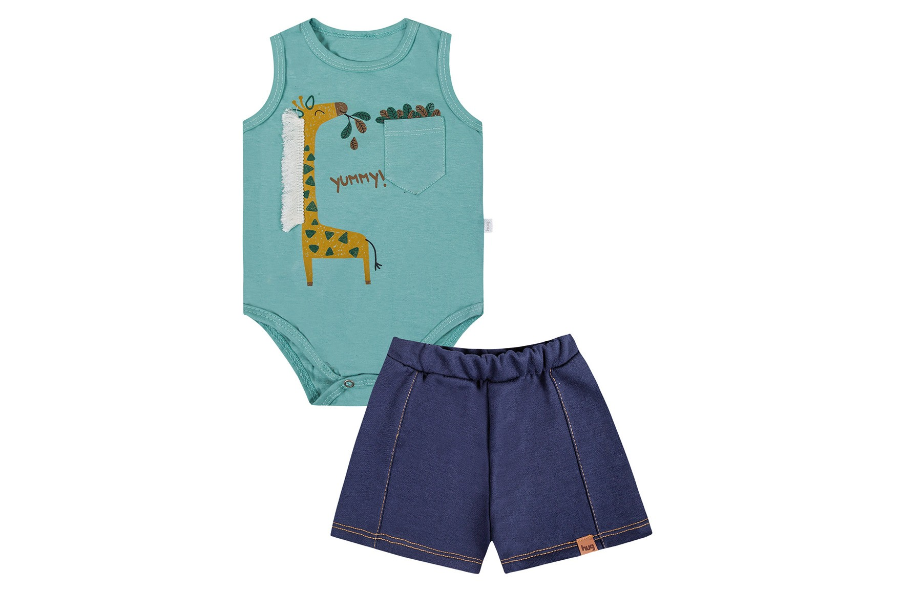 Conjunto Body Regata + Shorts undefined Masculino - Verde