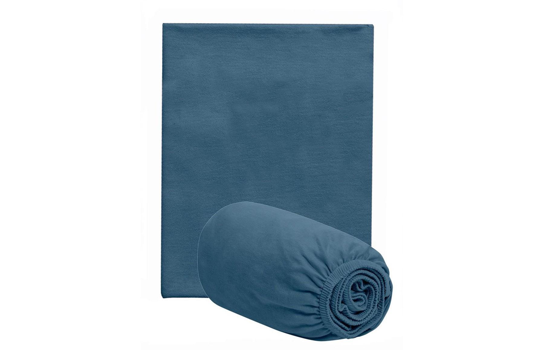 Jogo De Lençol Para Berço Azul Netuno