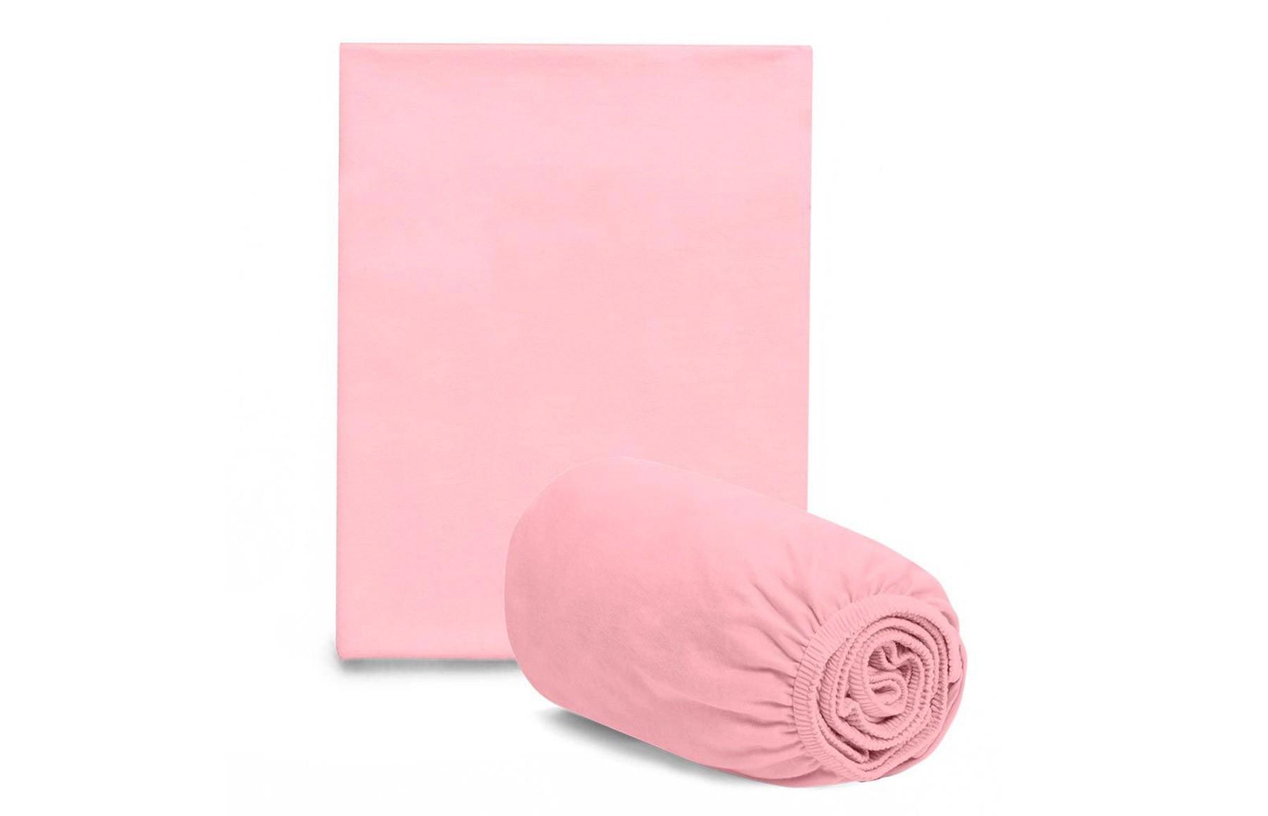 Jogo De Lençol + Fronha Para Mini Berço Rosa