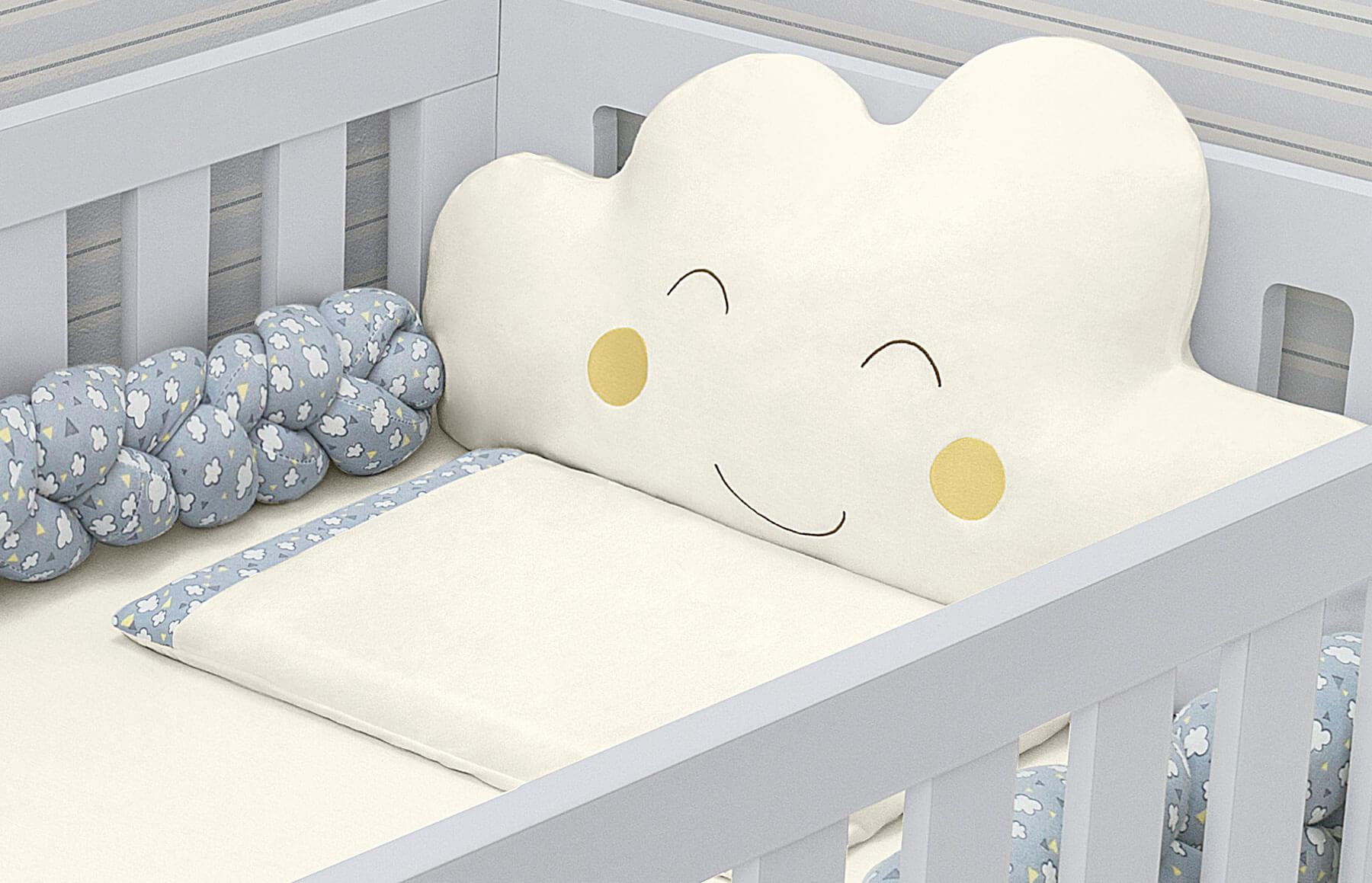 Kit Berço 5 peças Nuvens De Algodão