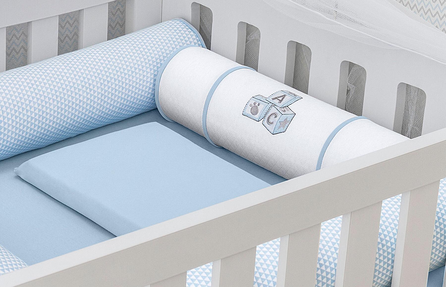 Kit Berço 9 peças Lembranças De Infância Azul