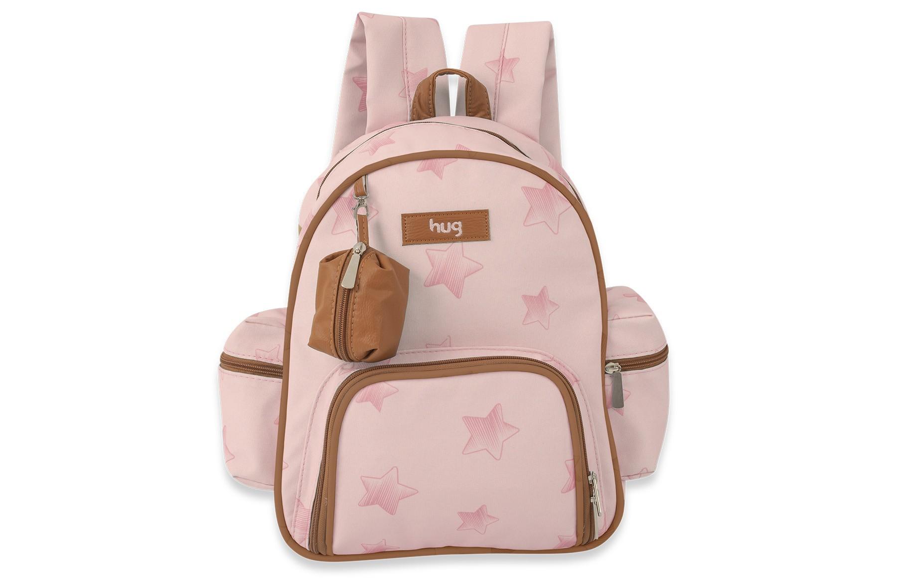 Kit Bolsa maternidade e Mochila - Linha Céu Estrelado Rosa