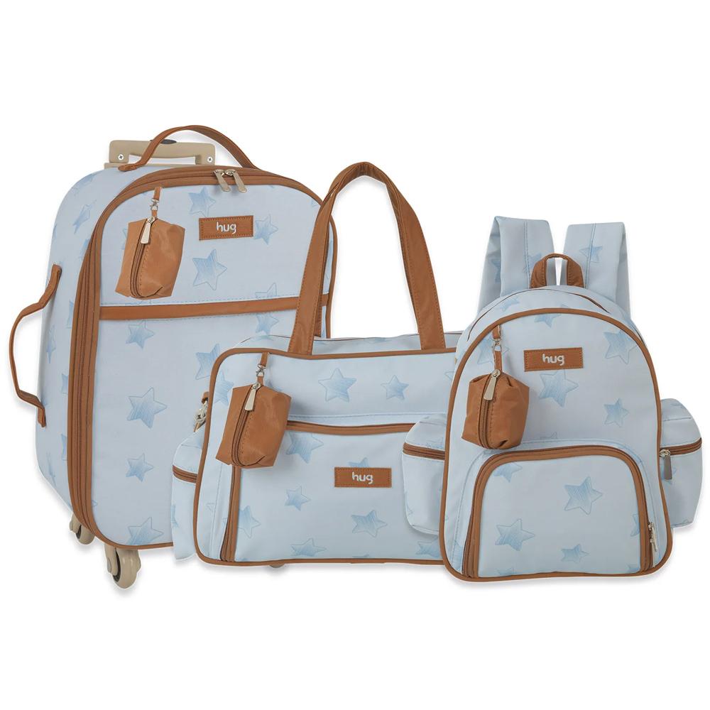 Kit Bolsa Maternidade - Linha Céu Estrelado Azul Hug