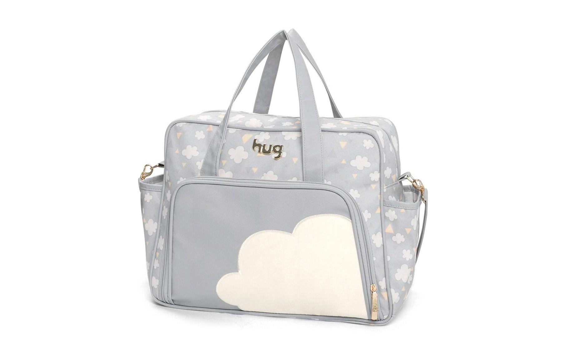 Kit bolsas 2 peças linha Nuvens cor cinza
