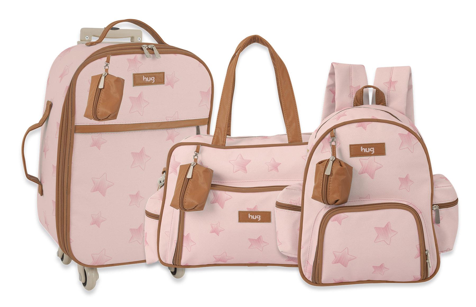 Kit Bolsas maternidade - Linha Céu Estrelado Rosa