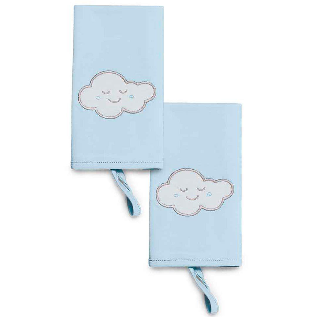 Kit Com 2 Babinha De Meia Malha Pedacinho Do Céu Azul