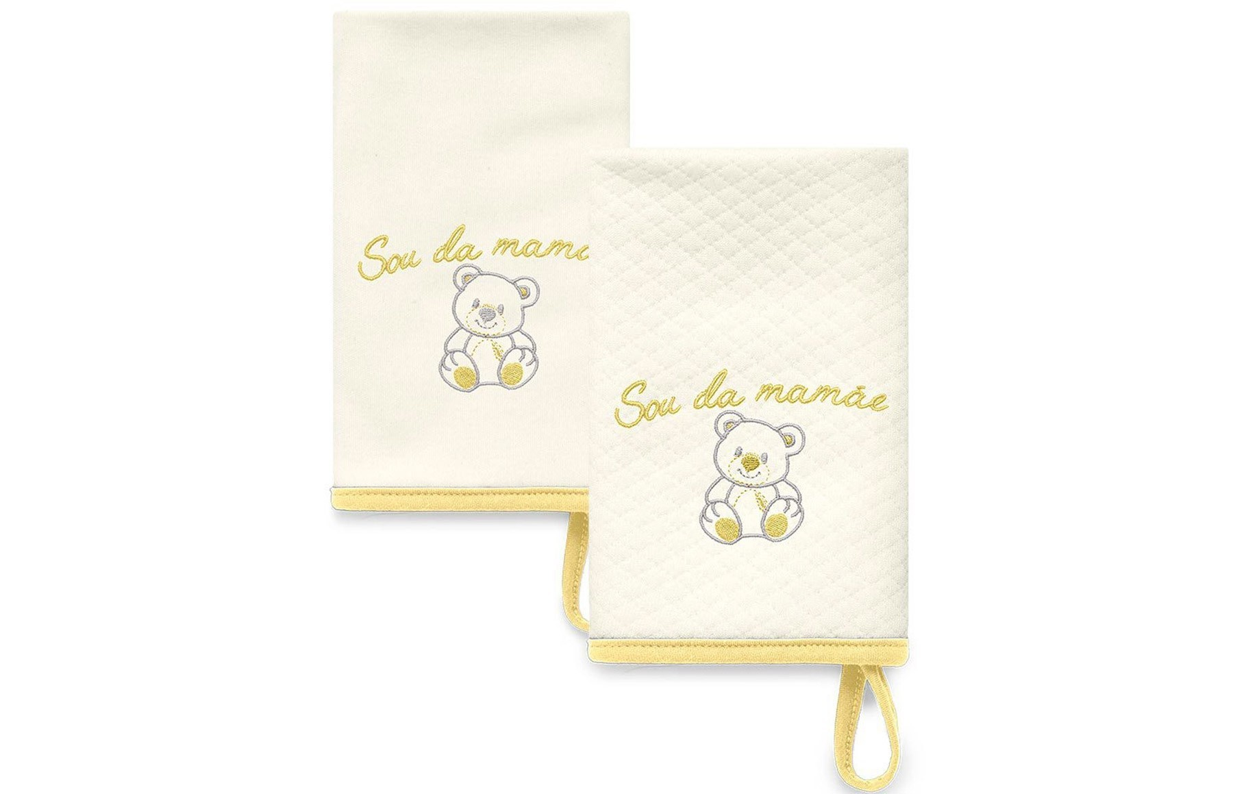 Kit Com 2 Babinhas Amarelo Acessórios - Sou da Mamãe