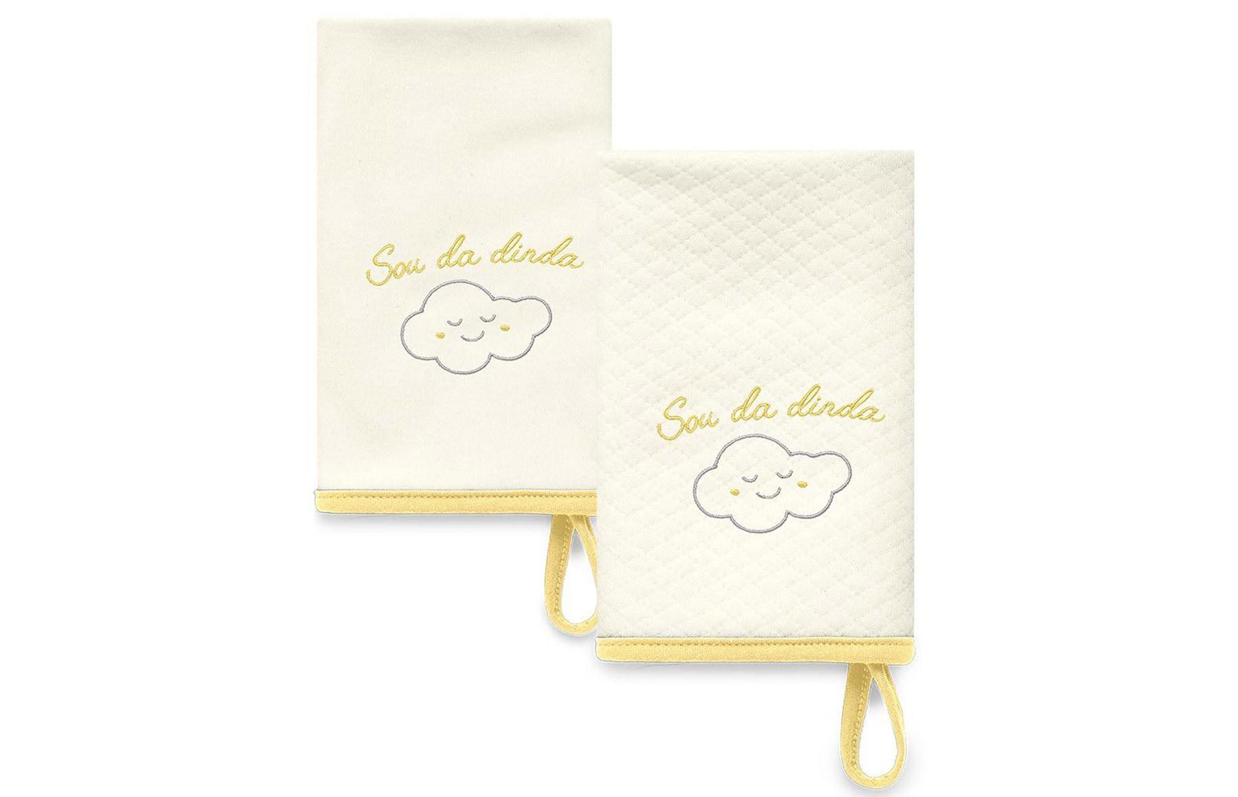 Kit Com 2 Babinhas Amarelo Acessórios - Sou da Dinda