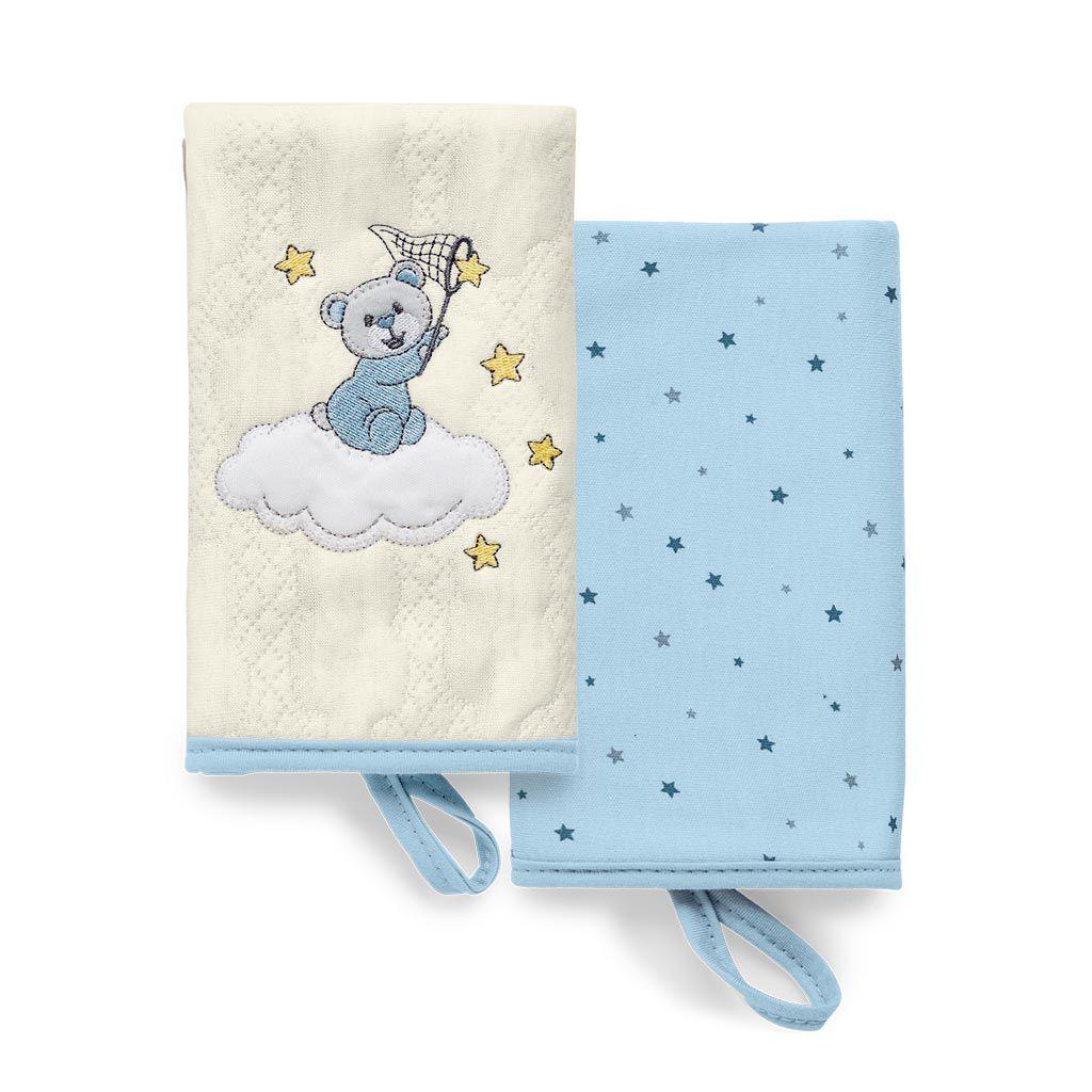 Kit Com 2 Babinhas Brilha Brilha Estrelinha Azul