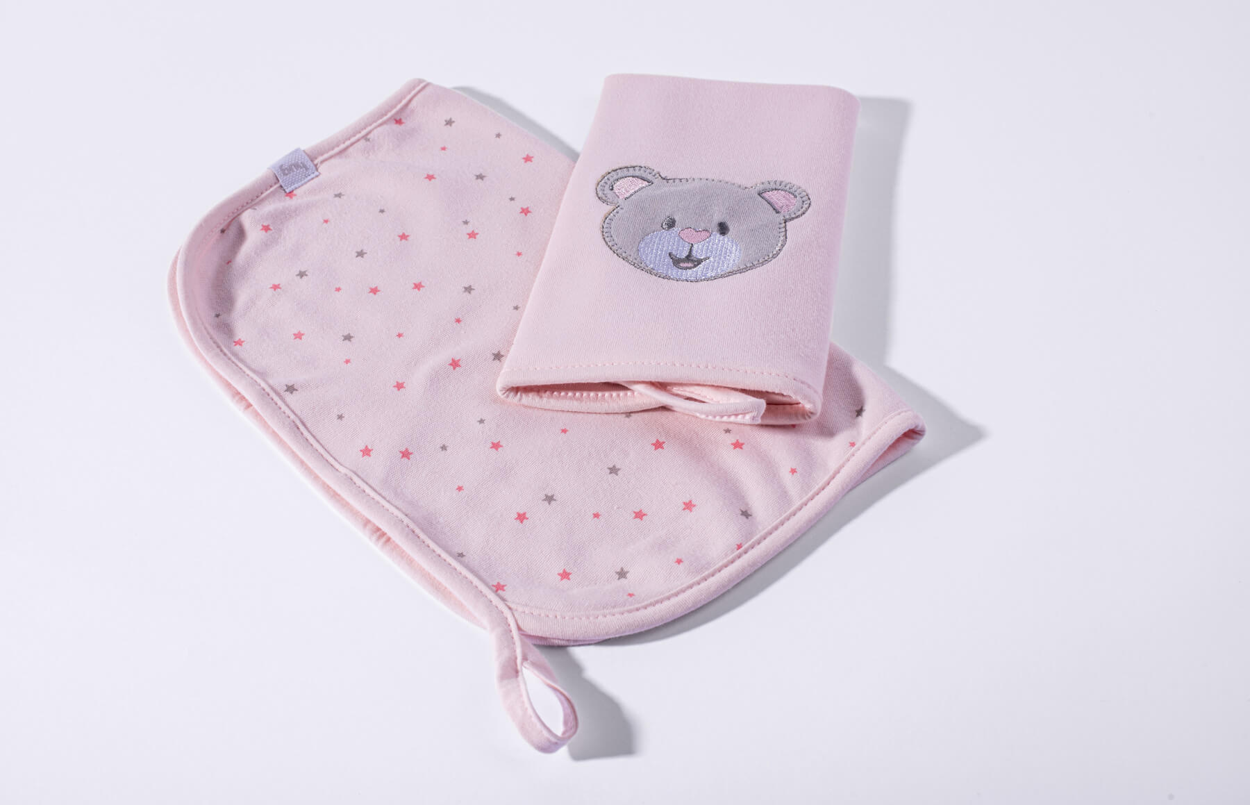 Kit Com 2 Babinhas Brilha Brilha Estrelinha Rosa