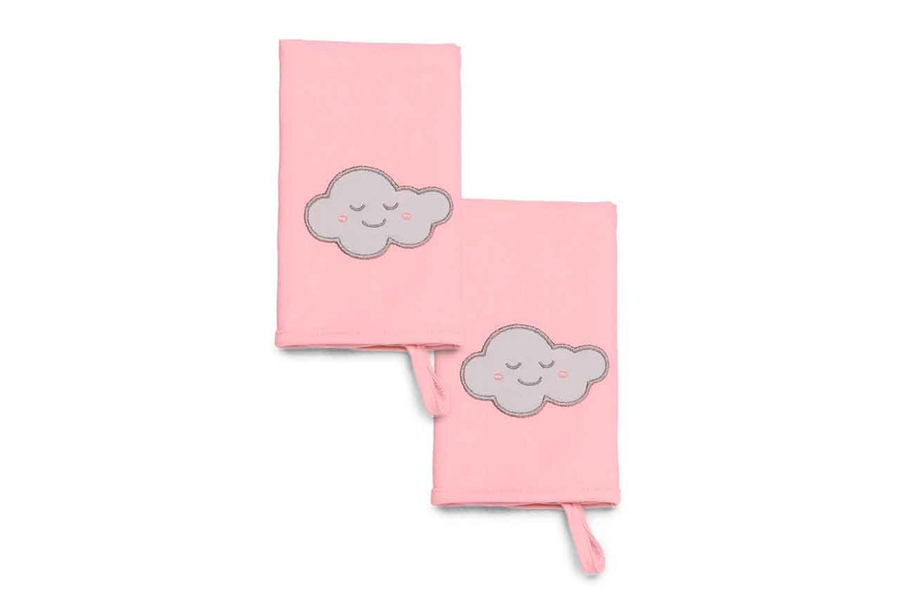 Kit Com 2 Babinhas De Meia Malha Pedacinho Do Céu Rosa