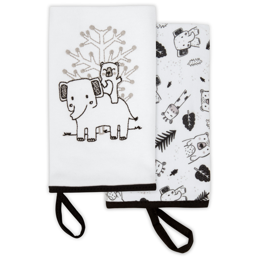 Kit Com 2 Babinhas Festa Na Floresta Branco - Hug