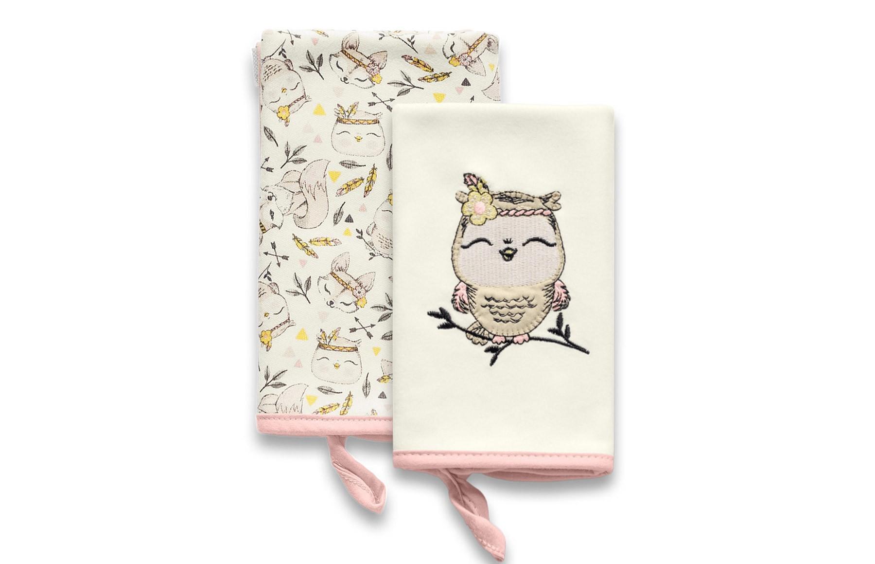 Kit Com 2 Babinhas Floresta Encantada Rosa