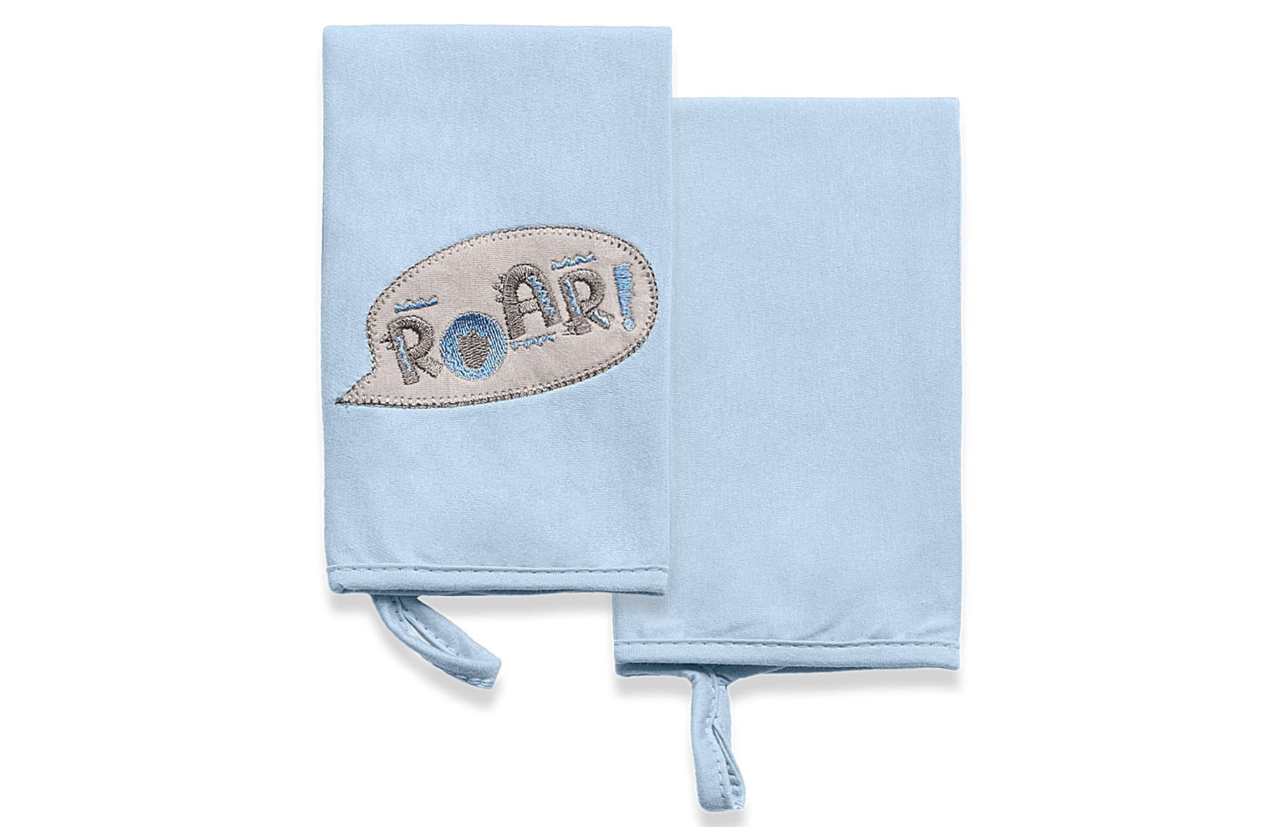 Kit Com 2 Babinhas Meus Dinos Azul