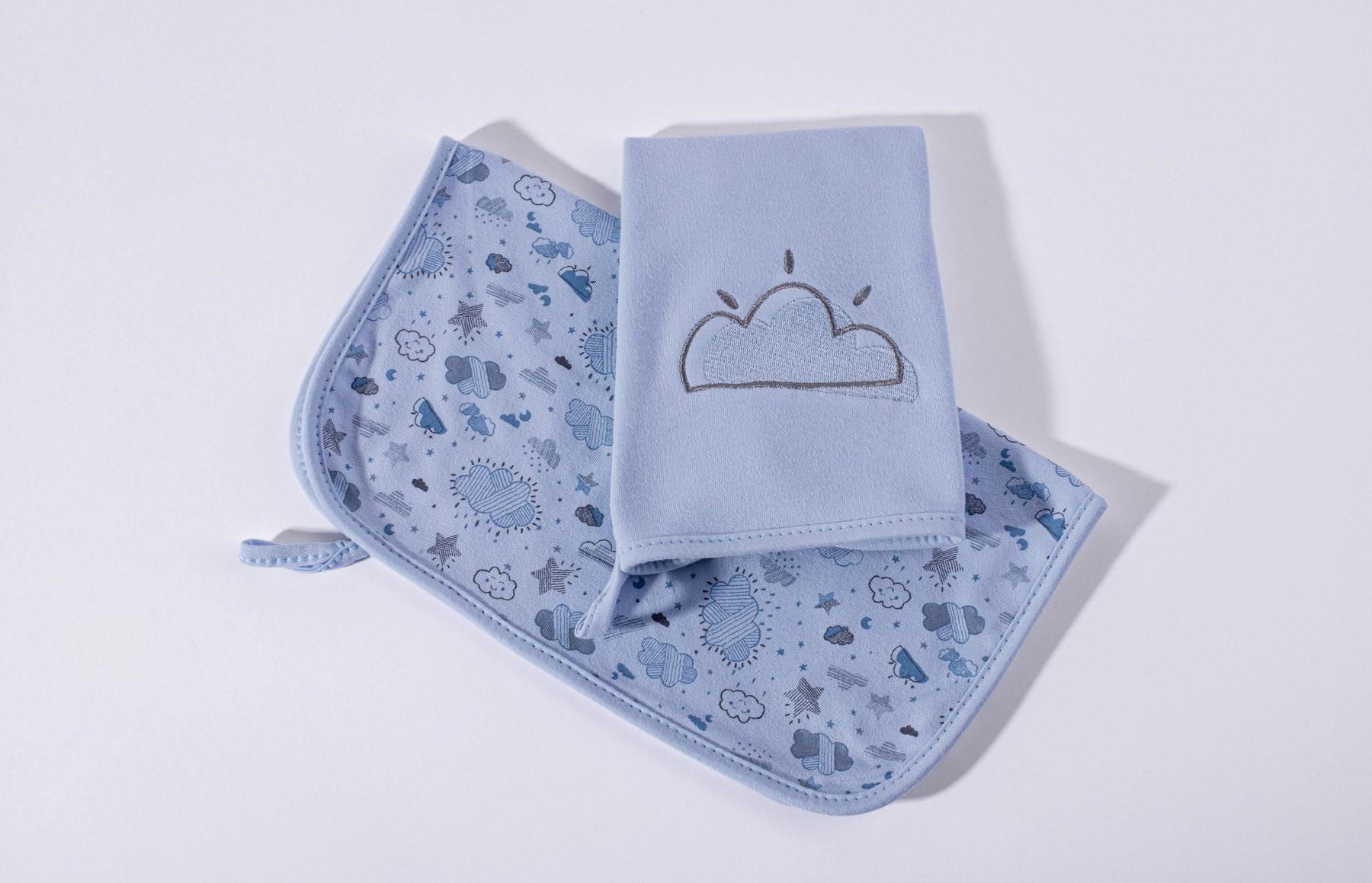 Kit Com 2 Babinhas Névoa Azul