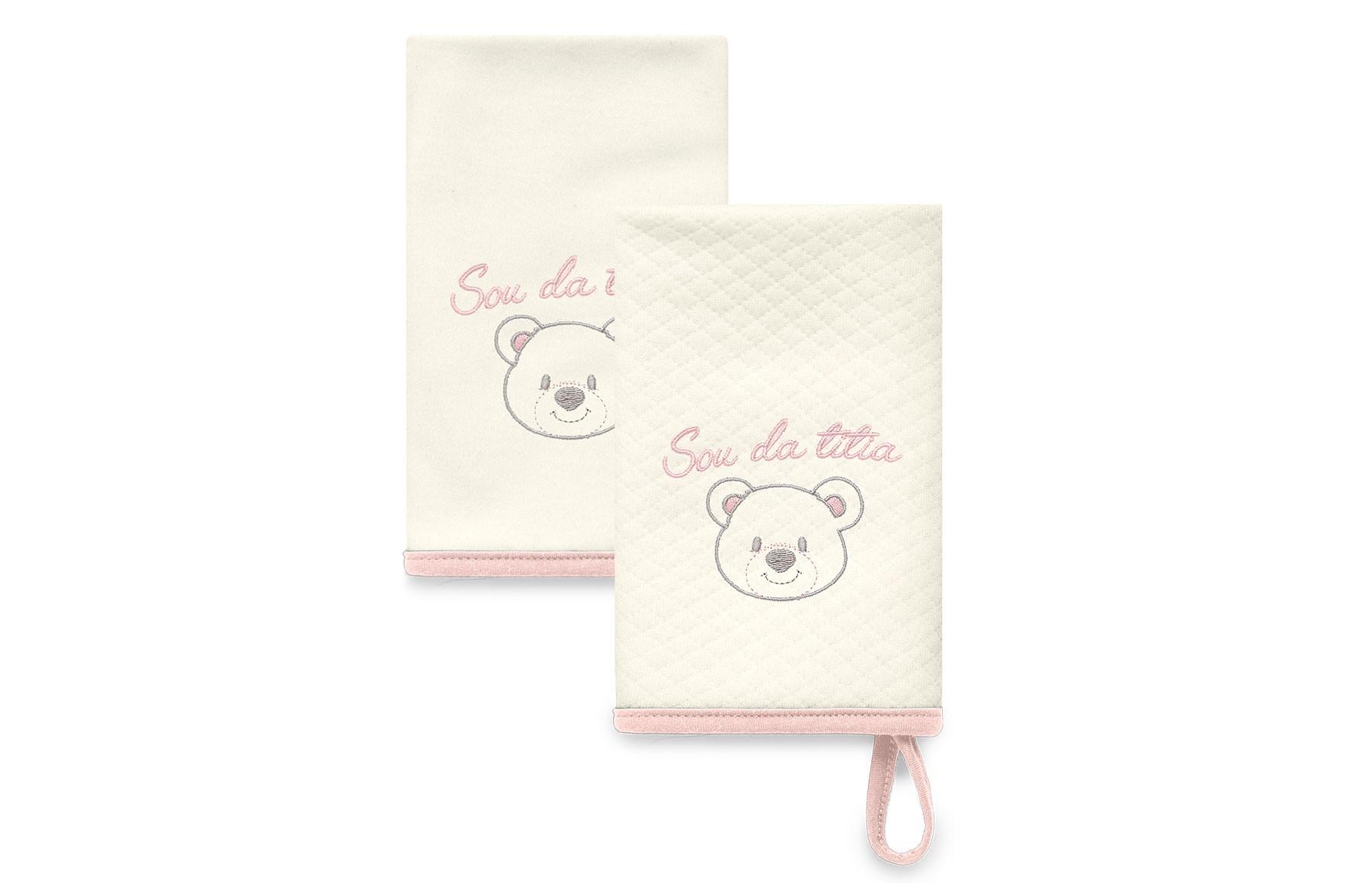 Kit Com 2 Babinhas Rosa Acessórios - Sou da Titia