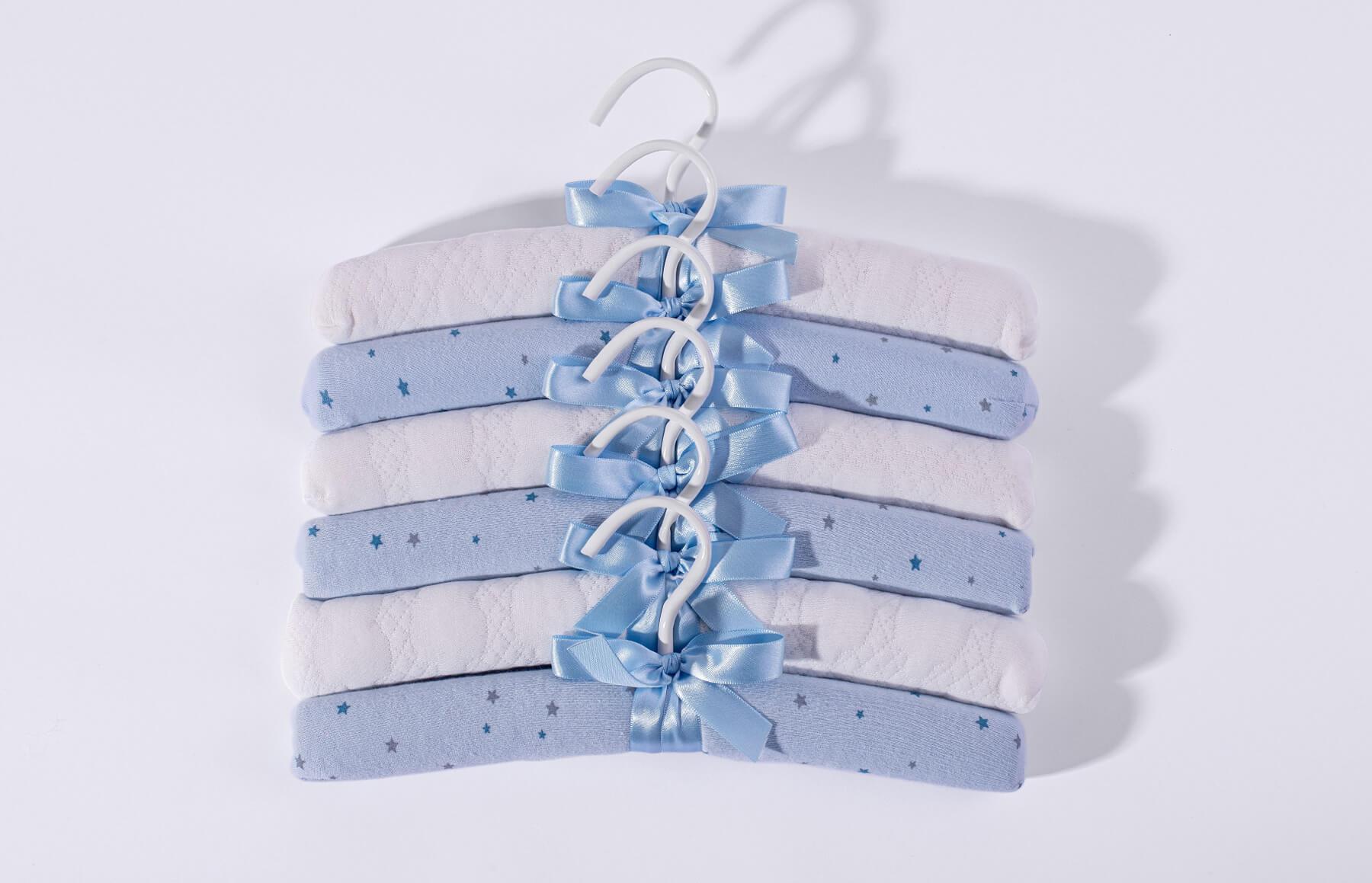 Kit Com 6 Cabides Brilha Brilha Estrelinha Azul